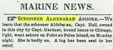 ALDEBARAN (1852, Schooner)