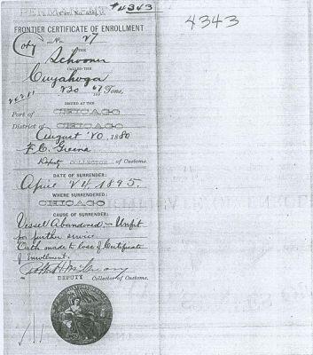 CUYAHOGA (1855, Schooner)