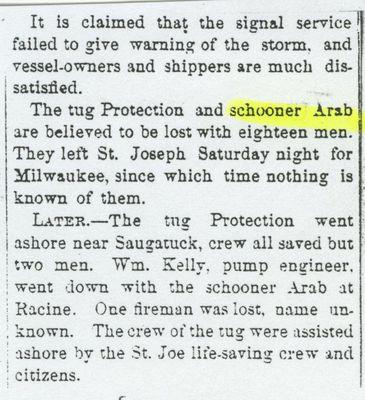 ARAB (1854, Schooner)