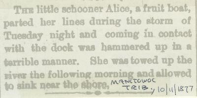 ALICE (1869, Schooner)