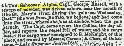ALPHA (1847, Schooner)