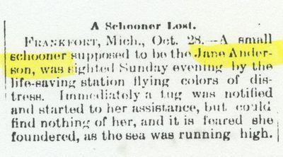 ANDERSON, JANE (1878, Schooner)