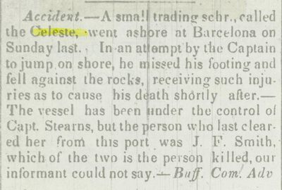 CELESTE (1835, Schooner)