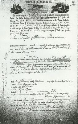 SLAUSON, DANIEL (1857, Schooner)