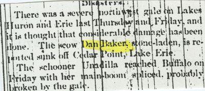 BAKER, DAN (1866, Scow Schooner)