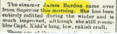 BARDON, JAMES (1879, Tug (Towboat))