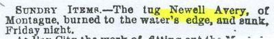 AVERY, NEWELL (1875, Tug (Towboat))