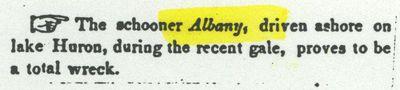 ALBANY (1841, Schooner)