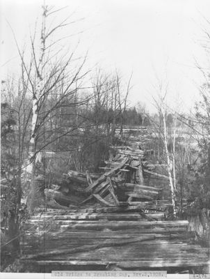 Old Foot Bridge to Breaking Gap, Thunder Bay River