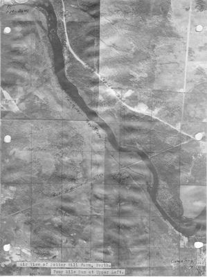 Aerial View of Potter Hill Farm and Four Mile Dam