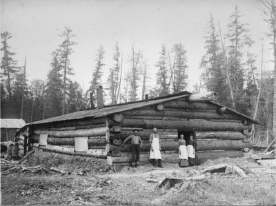 Cookhouse in Alpena Lumbering Camp