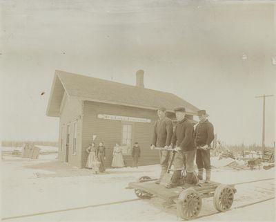 Mud Lake Railroad Junction - Engineer's Log, 1888.