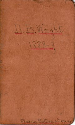 Wright Lumber Camp Account Ledger, 1888-1889