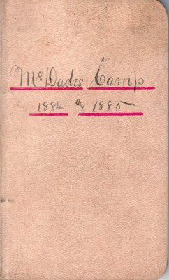 McDade Lumber Camp Account Ledger, 1884-1885
