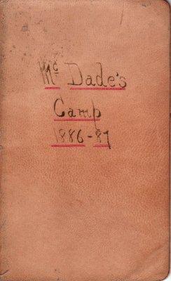 McDade Lumber Camp Account Ledger, 1886-1887