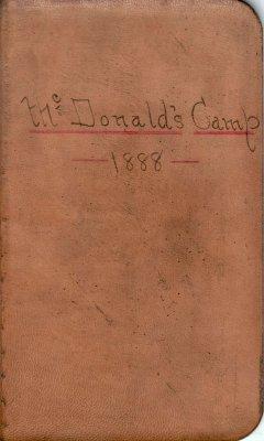 McDonald Lumber Camp Account Ledger, 1888