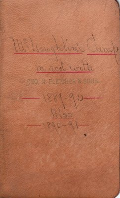 McLaughlin Lumber Camp Account Ledger, 1889-1891