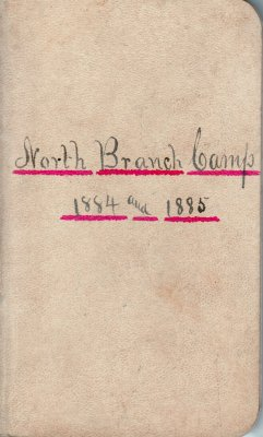 North Branch Lumber Camp Account Ledger, 1884-1885
