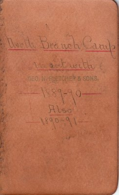 North Branch Lumber Camp Account Ledger, 1889-1891