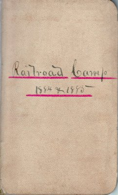 Railroad Lumber Camp Account Ledger, 1884-1885