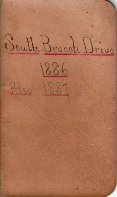 South Branch Drive Lumber Camp Account Ledger, 1886-1887