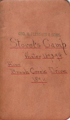 Stovel Lumber Camp Account Ledger, 1893, & Brush Creek Drive Lumber Camp Account Ledger, 1894