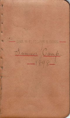 Summer Lumber Camp Account Ledger, 1898