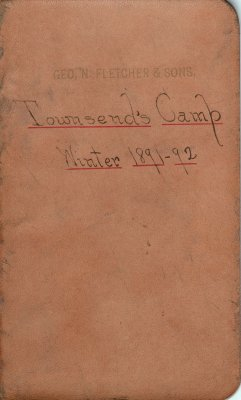 Townsend Lumber Camp Account Ledger, 1891-1892