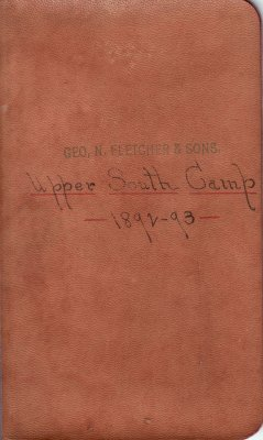 Upper South Lumber Camp Account Ledger, 1892-1893