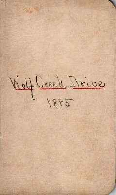 Wolf Creek Drive Lumber Camp Account Ledger, 1885
