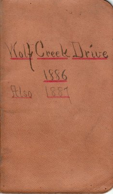 Wolf Creek Drive Lumber Camp Account Ledger, 1886-1887