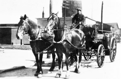 Alpena Fire Department Wagon and Horse Team