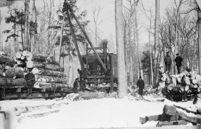 Fletcher Lumber Camp Log Loader