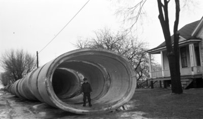 City Flood Sewer Pipe