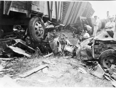 Detroit & Mackinac Railway Train Wreck