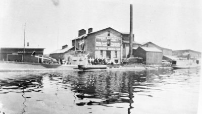 Submarine U097 at Thunder Bay Milling Company Dock