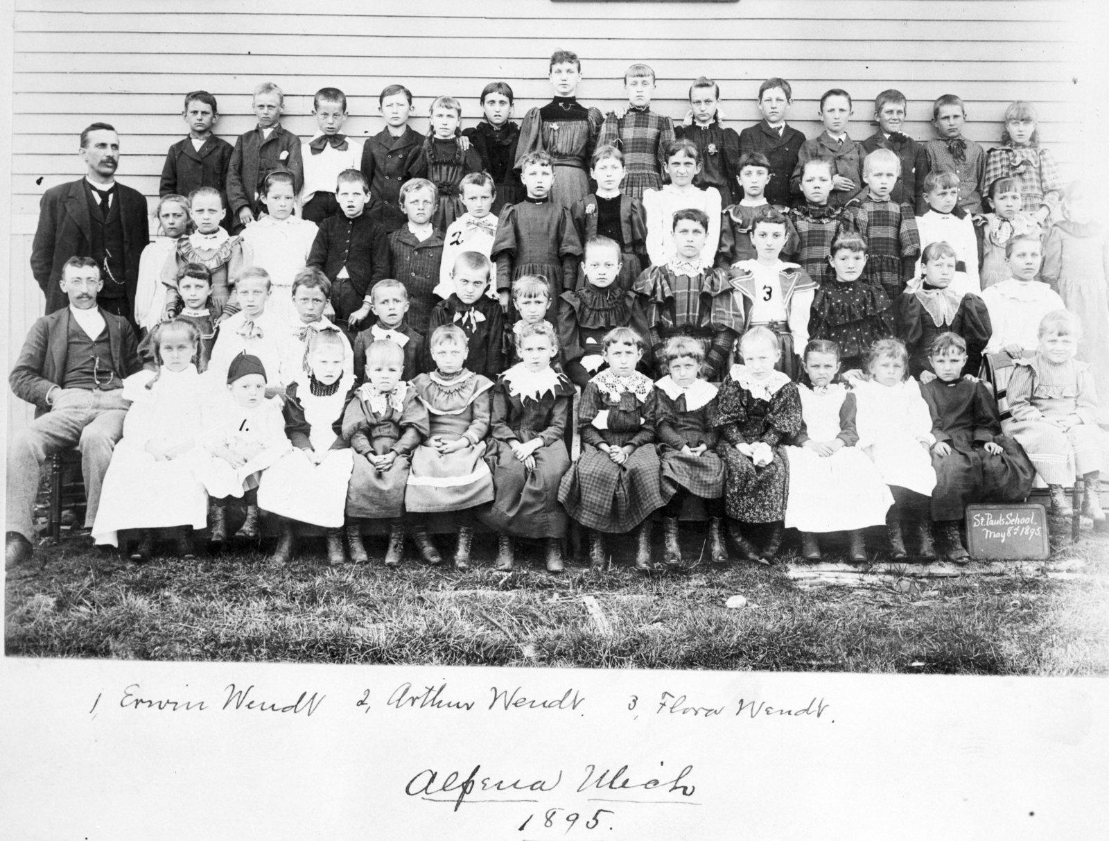 St. Paul Lutheran Church School Students, 1895
