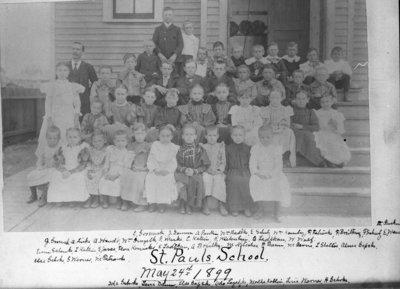 St. Paul Lutheran Church School Students, 1899
