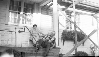 Middle-aged Couple on Porch