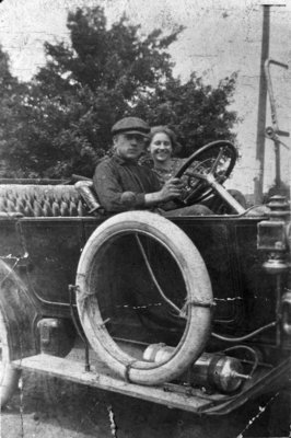 Young Couple in Automobile