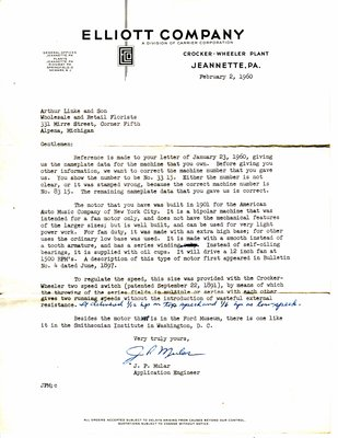 Elliot Company Letter