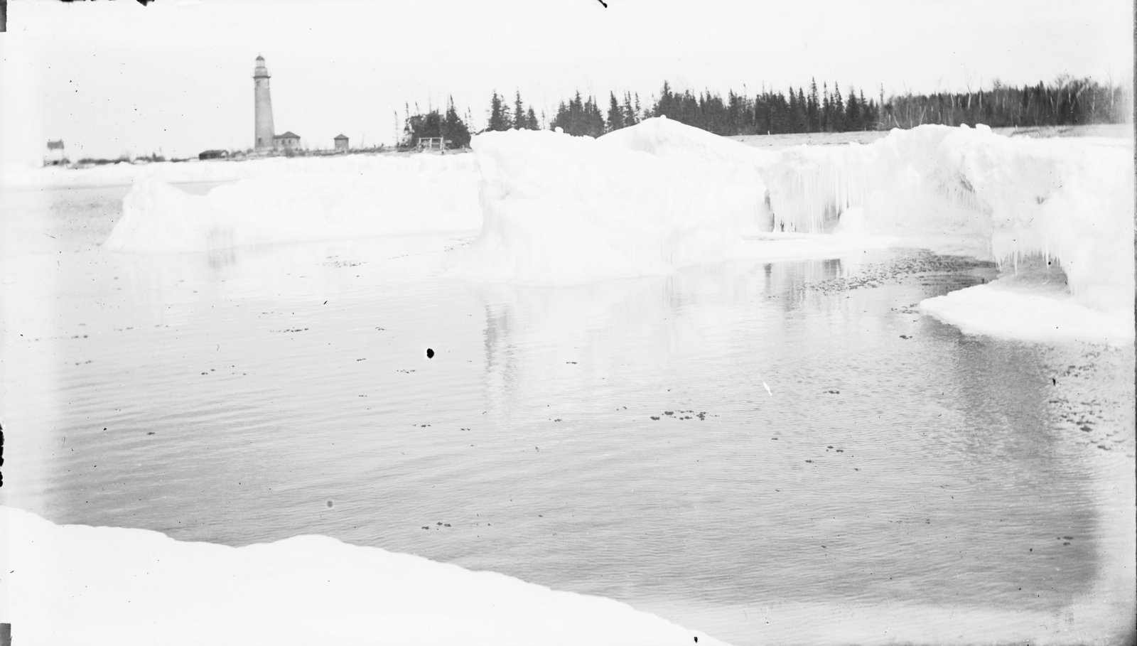 Middle Island:  Ice Scene with Lighthouse