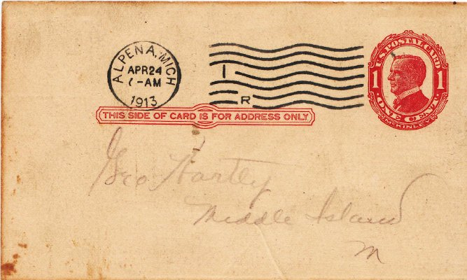 Middle Island:  Postmarked Envelope and Freight Receipt