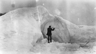 Middle Island:  Surfman with Rifle on Ice