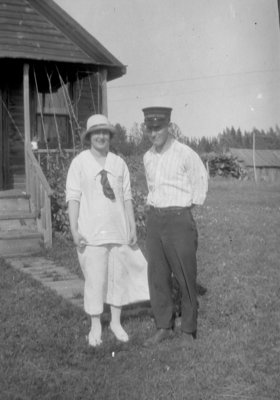 Middle Island:  Coast Guard Crewman with Lady