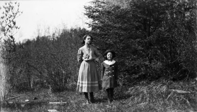 Middle Island:  Esther Hartlep (right) with unidentified teenage girl.