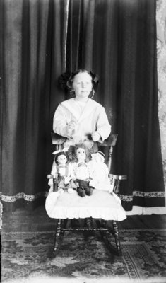 Esther Hartlep with her Dolls