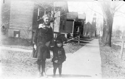 Esther and Donald Hartlep near their home at 616 Lockwood Street in Alpena, Michigan