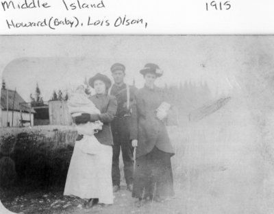 Middle Island: Lois and Howard Olson with Unidentified People