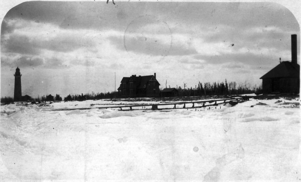 Middle Island:  Lighthouse, Keeper's Quarters, and Fog Signal Building